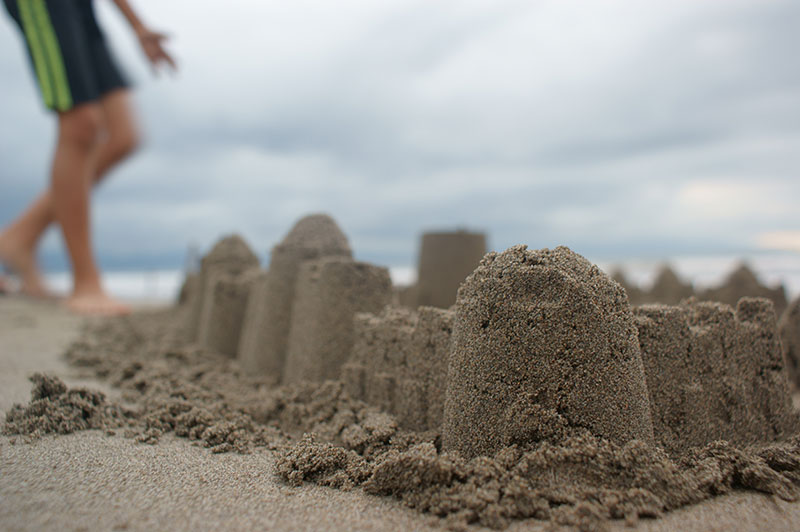 school holiday activity build sandcastles